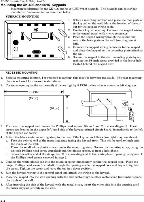 small resolution of mark the location of the cutout for the keypad wiring cable 2 create a