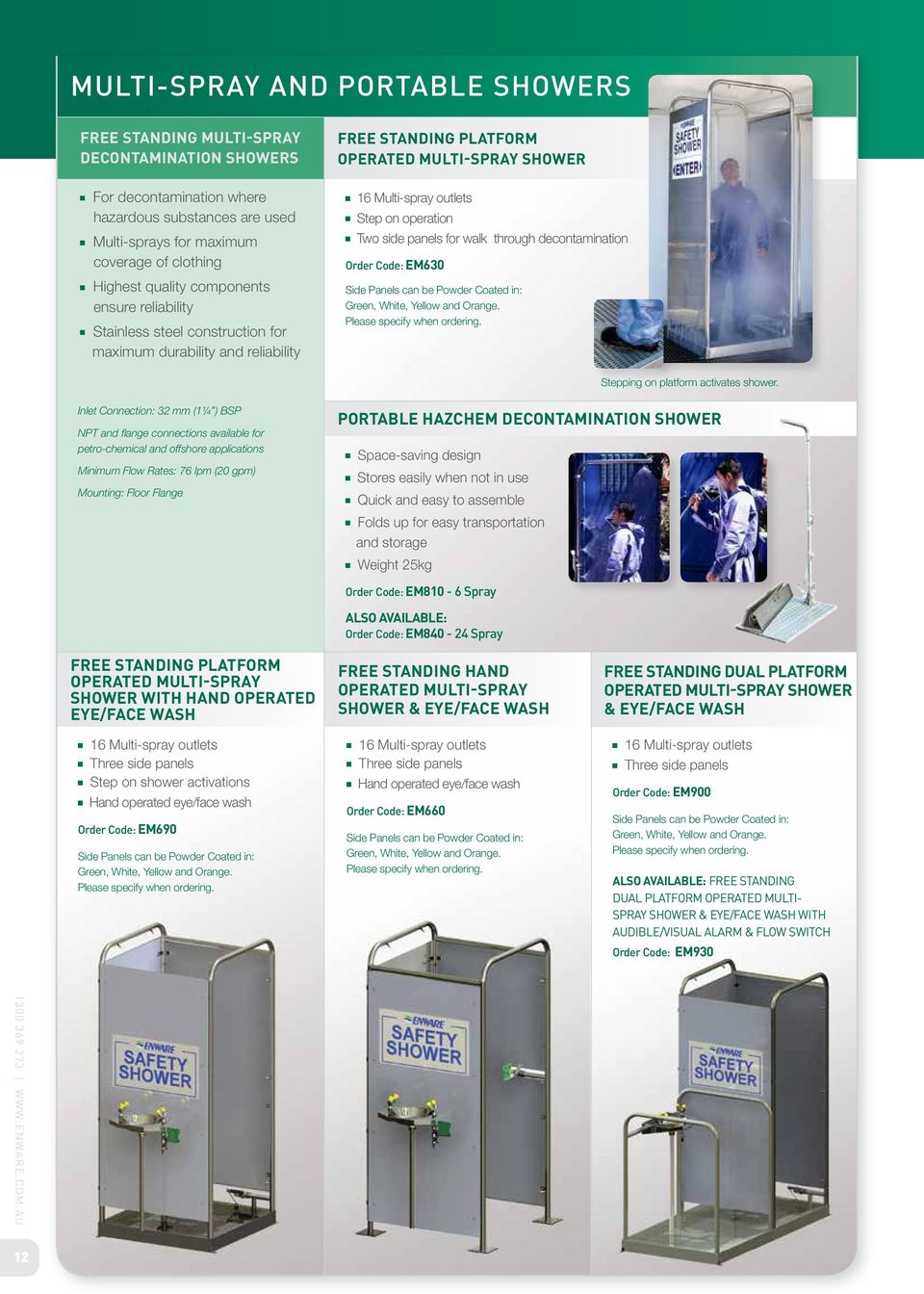 medium resolution of two side panels for walk through decontamination em630 side panels can be powder coated in emergency showers