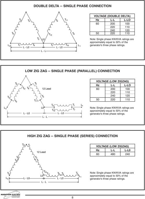 small resolution of low zig zag single phase parallel connection t 3 t 6 t
