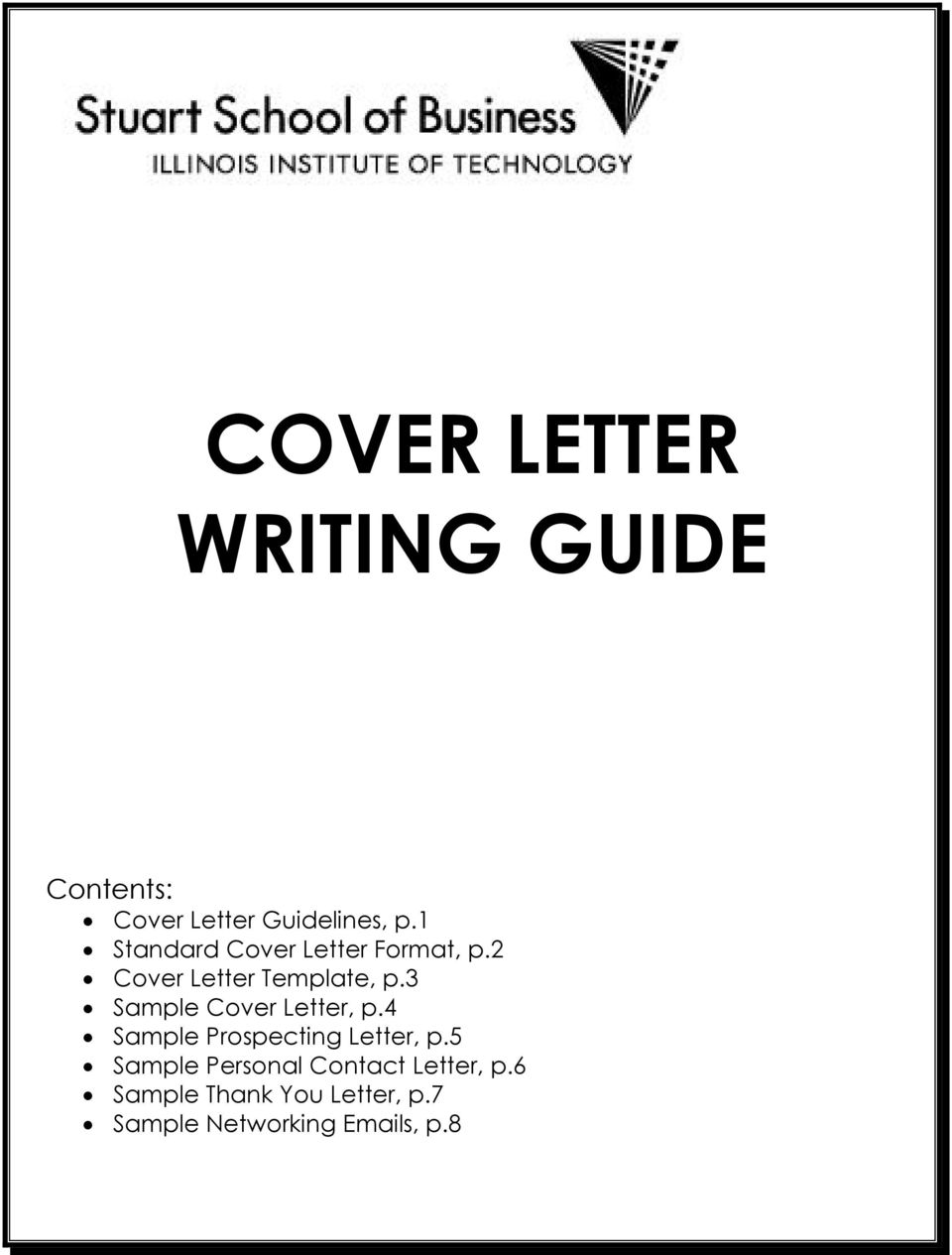 COVER LETTER WRITING GUIDE  PDF