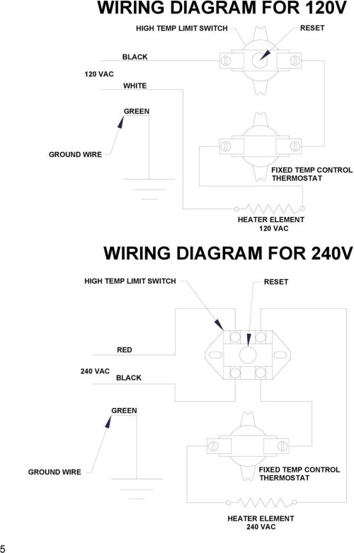 small resolution of 120 vac wiring diagram for 240v high temp limit switch reset red 240
