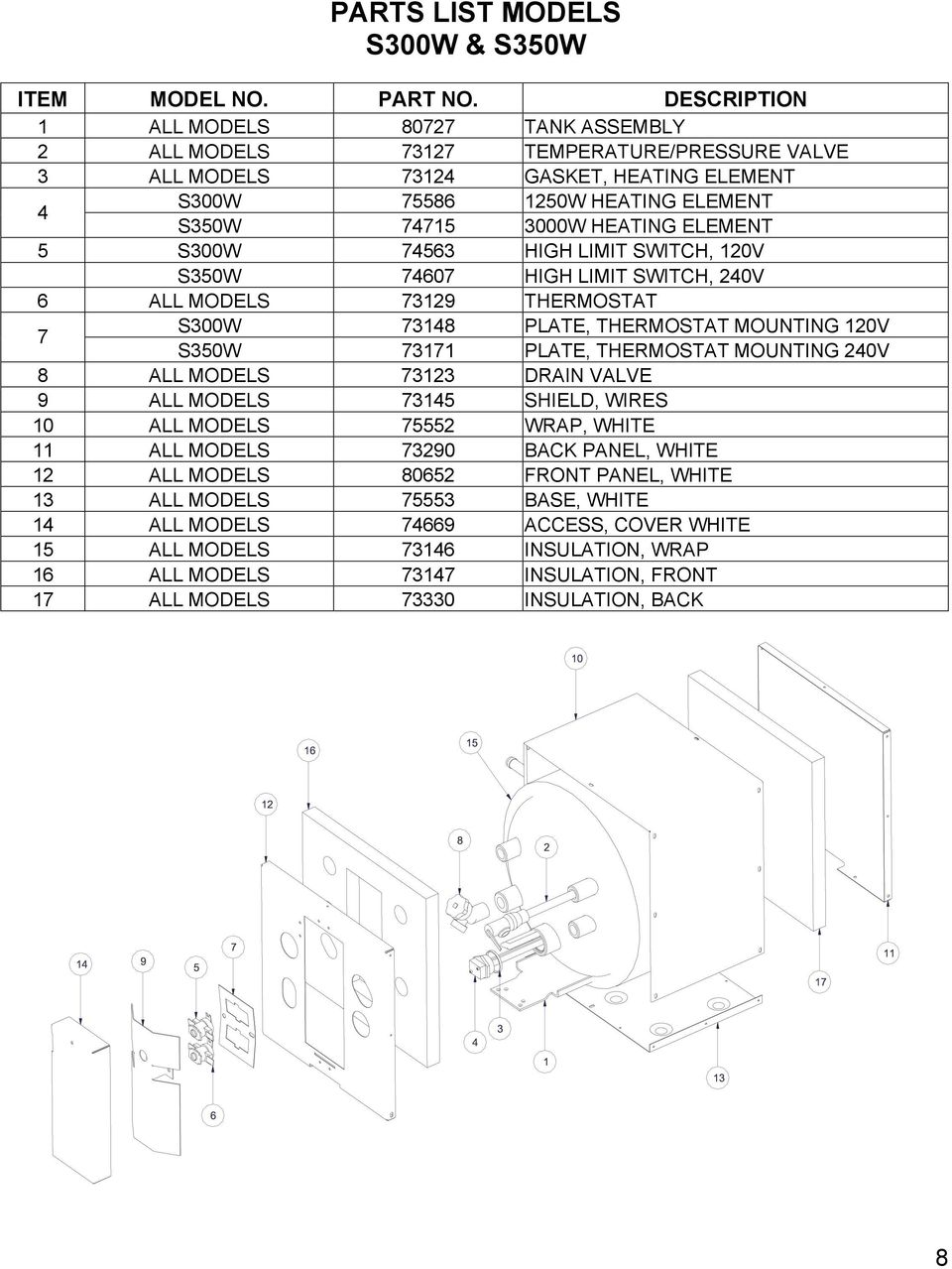hight resolution of element 5 s300w 74563 high limit switch 120v s350w 74607 high limit switch 240v