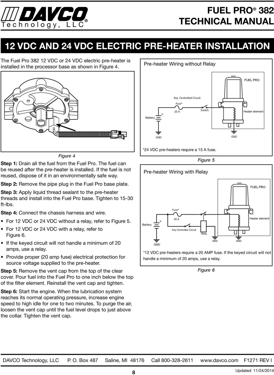 hight resolution of the fuel can be reused after the pre heater is installed if the fuel