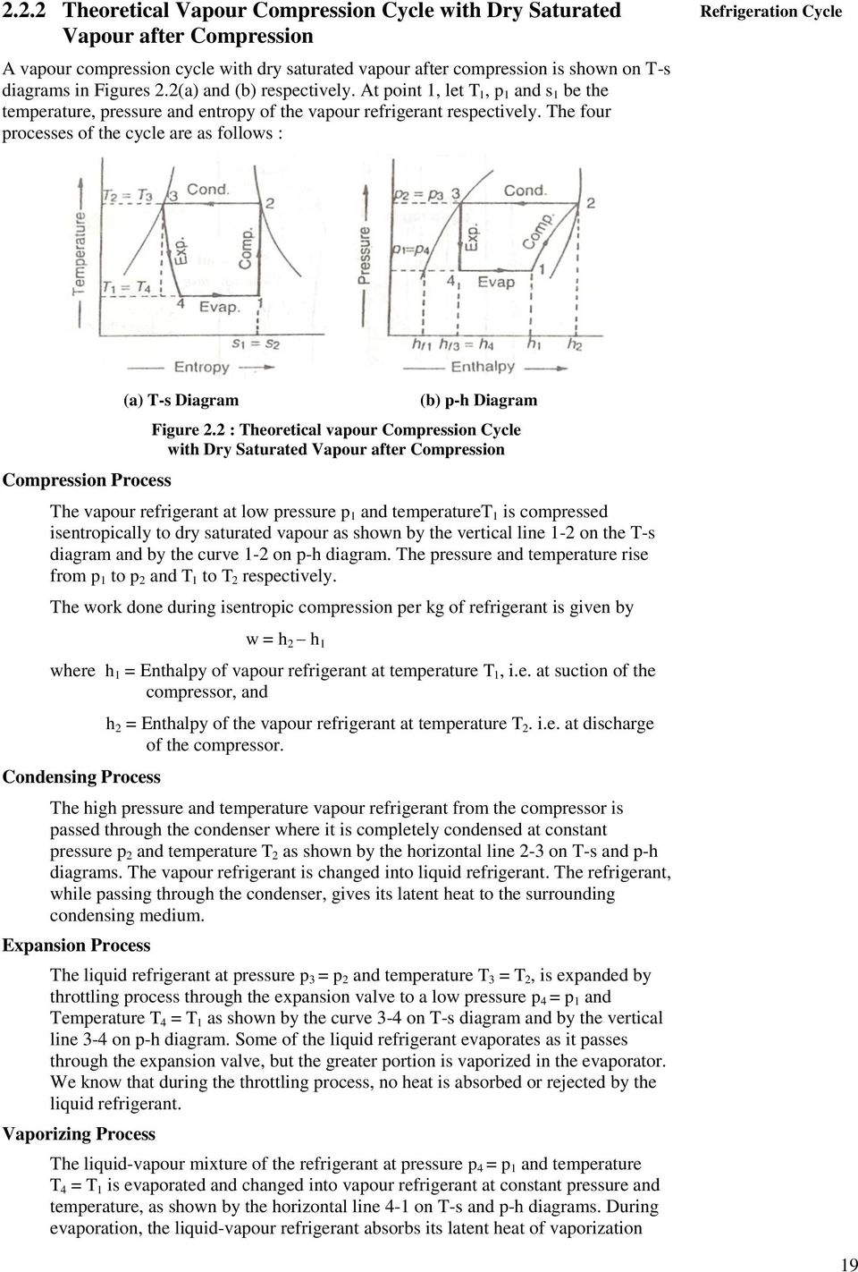 medium resolution of the four processes of the cycle are as follows refrigeration cycle compression process a