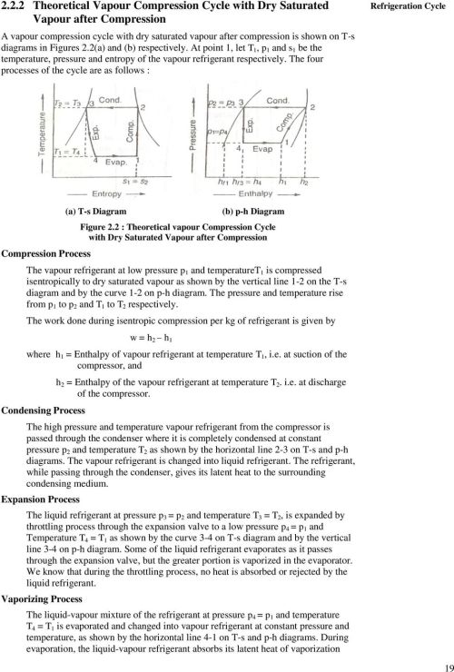 small resolution of the four processes of the cycle are as follows refrigeration cycle compression process a