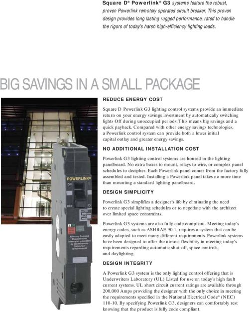 small resolution of big savings in a small package reduce energy cost square d powerlink g3 lighting control systems