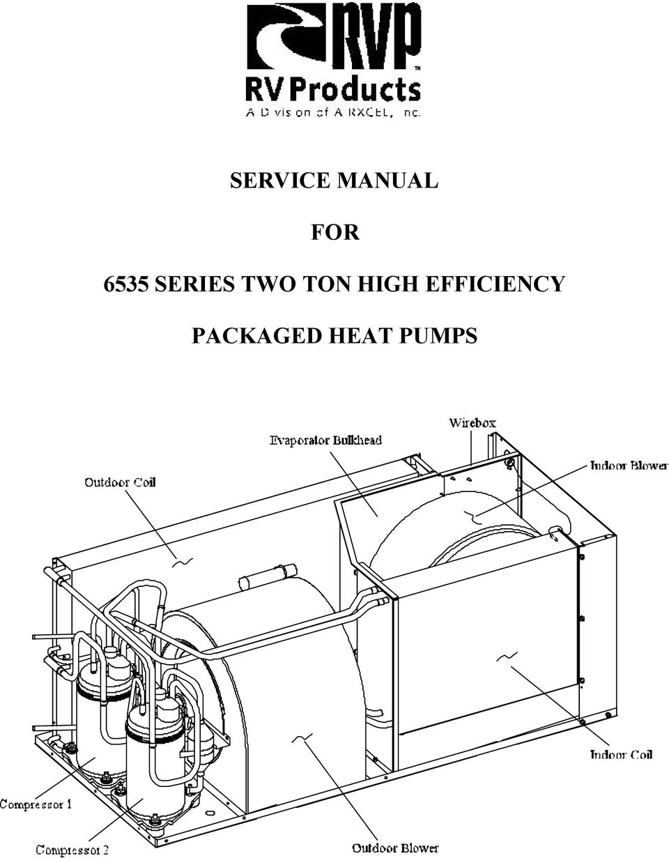 SERVICE MANUAL FOR 6535 SERIES TWO TON HIGH EFFICIENCY