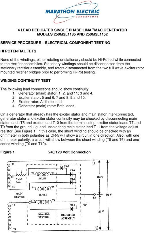small resolution of stationary windings should be disconnected from the stationary rectifier assembly and rotors disconnected from the