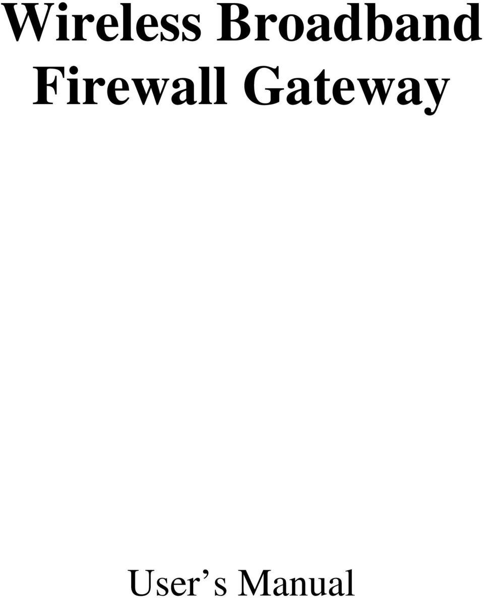 Firewall: Firewall Gateway
