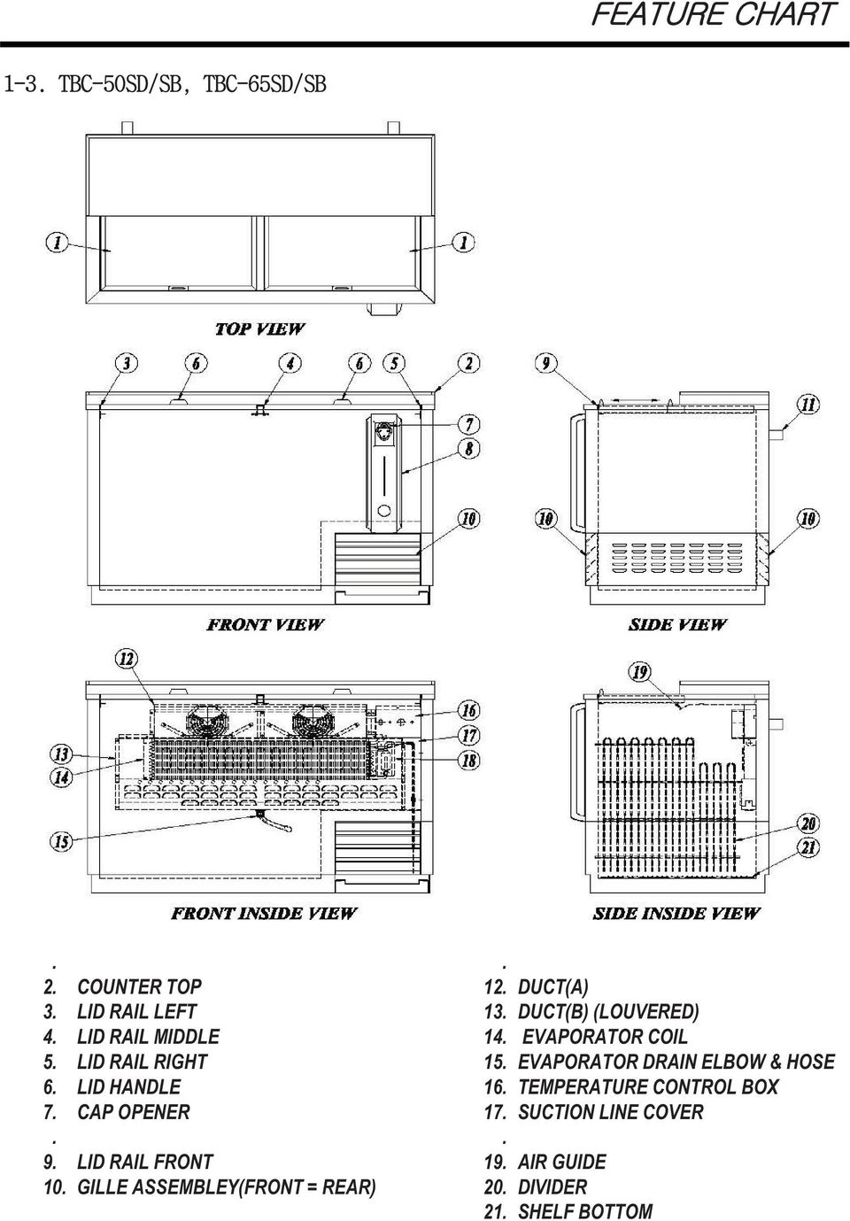 hight resolution of duct a 13 duct b louvered 14 evaporator