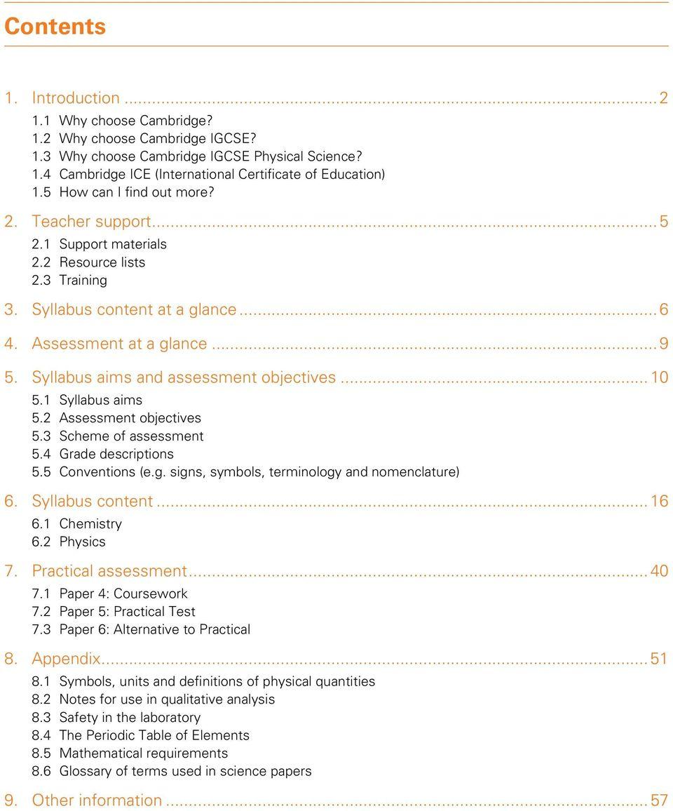 hight resolution of Syllabus. Cambridge IGCSE Physical Science. Cambridge Secondary 2 Version 2  - PDF Free Download