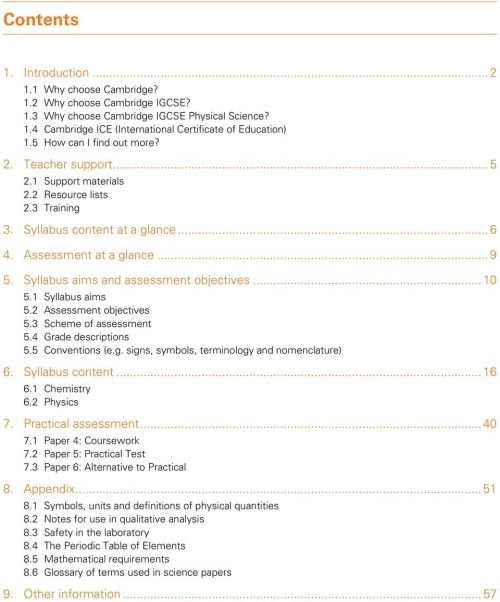 small resolution of Syllabus. Cambridge IGCSE Physical Science. Cambridge Secondary 2 Version 2  - PDF Free Download