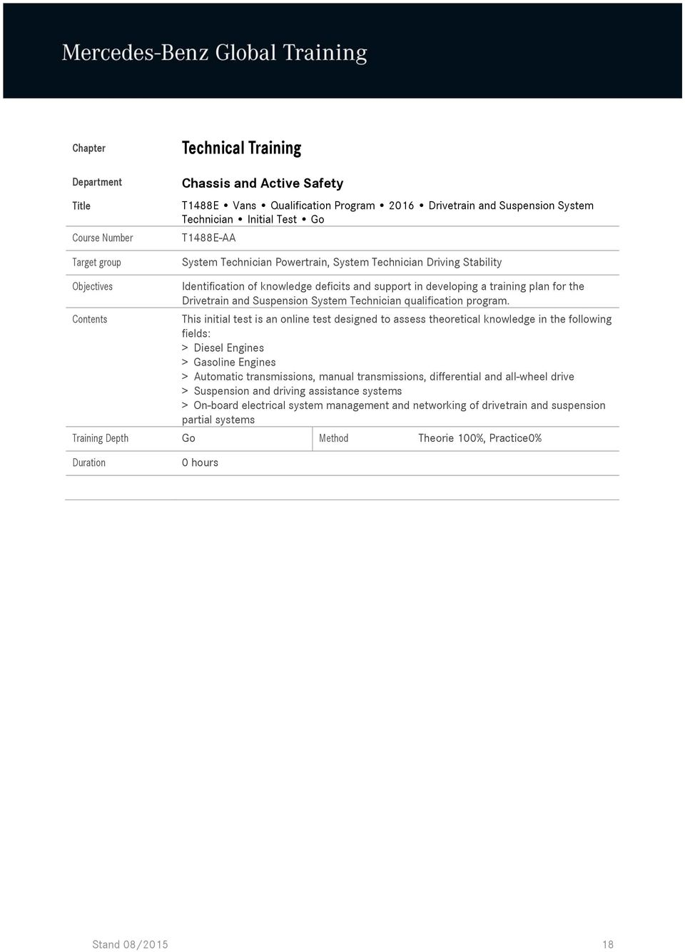 hight resolution of this initial test is an online test designed to assess theoretical knowledge in the following fields
