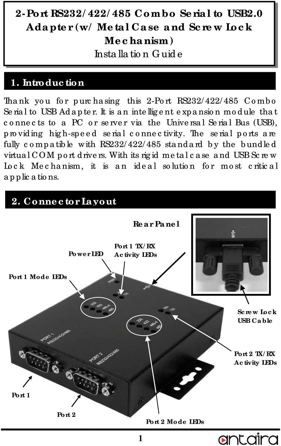 hight resolution of it is an intelligent expansion module that connects to a pc or server via the universal 2 features provides 2 rs232 422 485 serial ports