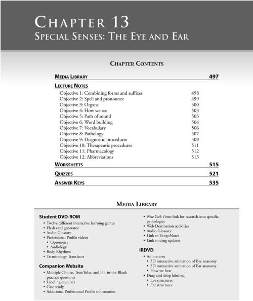 small resolution of  labeling eye structures ear structures therapeutic procedures 511 objective 11 pharmacology 512 objective 12 abbreviations 513 worksheets 515 quizzes