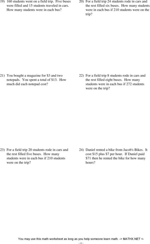 small resolution of Two-step equations - word problems - integers - PDF Free Download