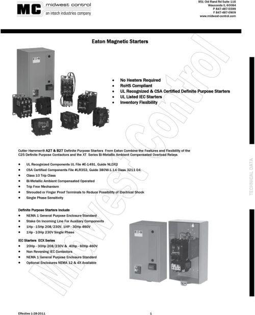 small resolution of eaton magnetic starters pdfeaton starter wiring diagram xt series 15