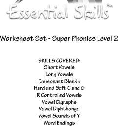 Worksheet Set - Super Phonics Level 2 - PDF Free Download [ 1499 x 960 Pixel ]