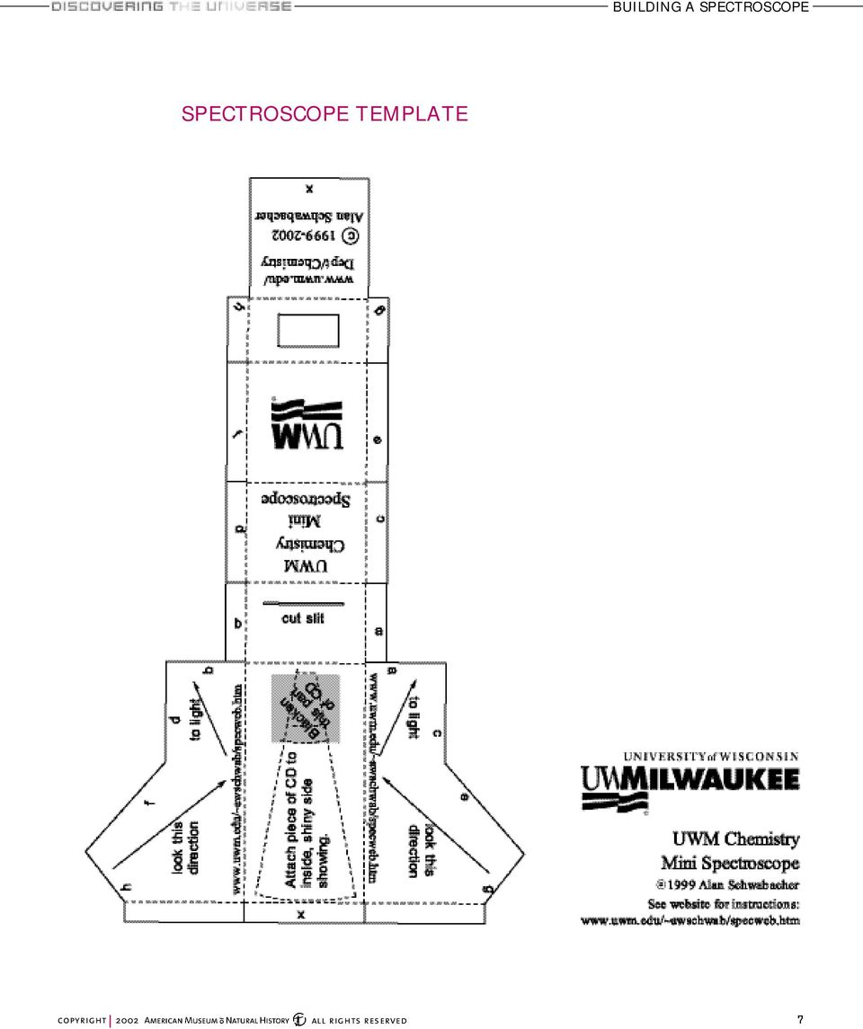 medium resolution of 7 spectroscope template building a spectroscope
