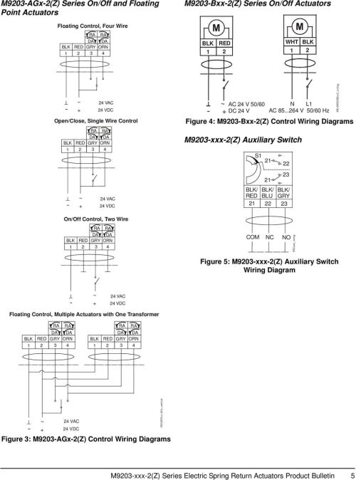 small resolution of  m9203 2 z series electric spring return actuators pdf on 4