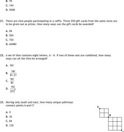 Math 30-1: Permutations and Combinations PRACTICE EXAM - PDF Free Download [ 1252 x 960 Pixel ]