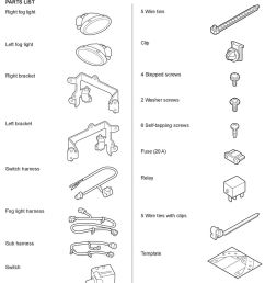 clip right bracket 4 stepped screws 2 washer screws left bracket 6 self tapping screws [ 960 x 1301 Pixel ]