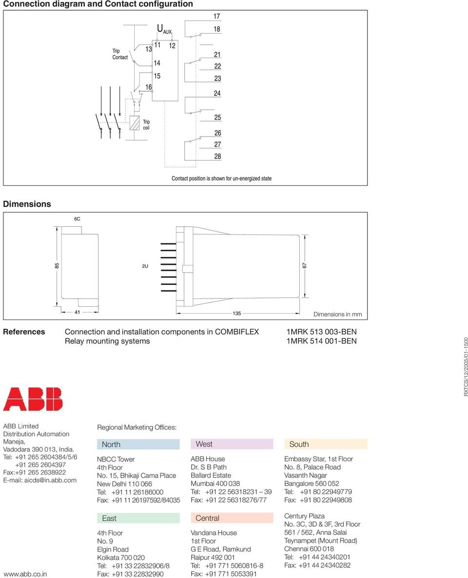 medium resolution of  trip circuit supervision relay type rxtcs pdf on shunt trip coil diagram abb