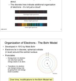 chem 100 f07 3 organization of electrons the bohr model developed in 1913 by niels [ 960 x 1401 Pixel ]