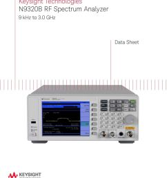 keysight technologies n9320b rf spectrum analyzer pdf rf spectrum [ 960 x 1047 Pixel ]