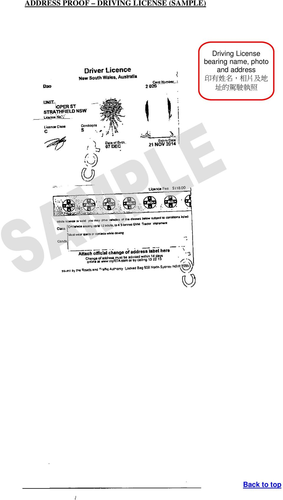 Identification Document and Nationality Proof 1. Address