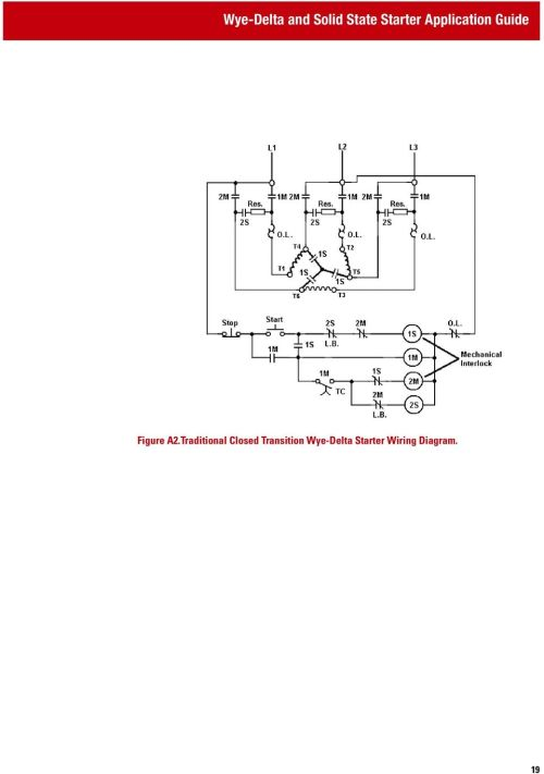 small resolution of traditional closed transition wye delta starter wiring diagram 19 transition