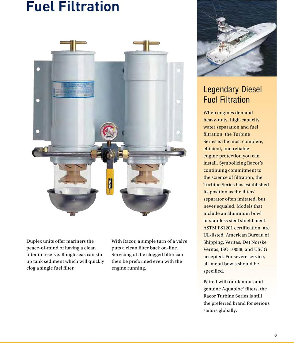 hight resolution of legendary diesel fuel filtration when engines demand heavy duty high capacity water separation