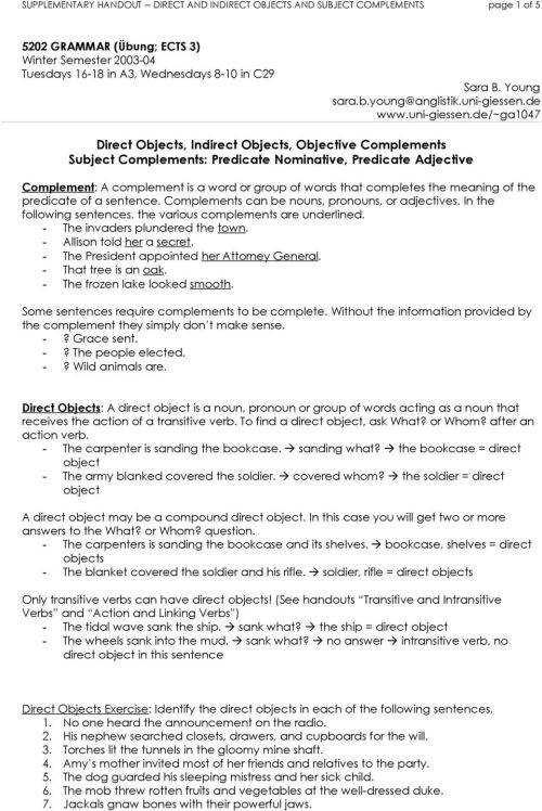 small resolution of 34 Subject Complement Worksheet With Answers - Worksheet Resource Plans