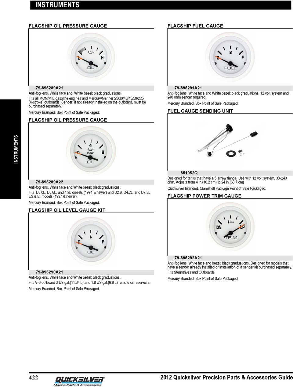 hight resolution of flagship oil pressure gauge 79 895291a21 anti fog lens white face and white bezel