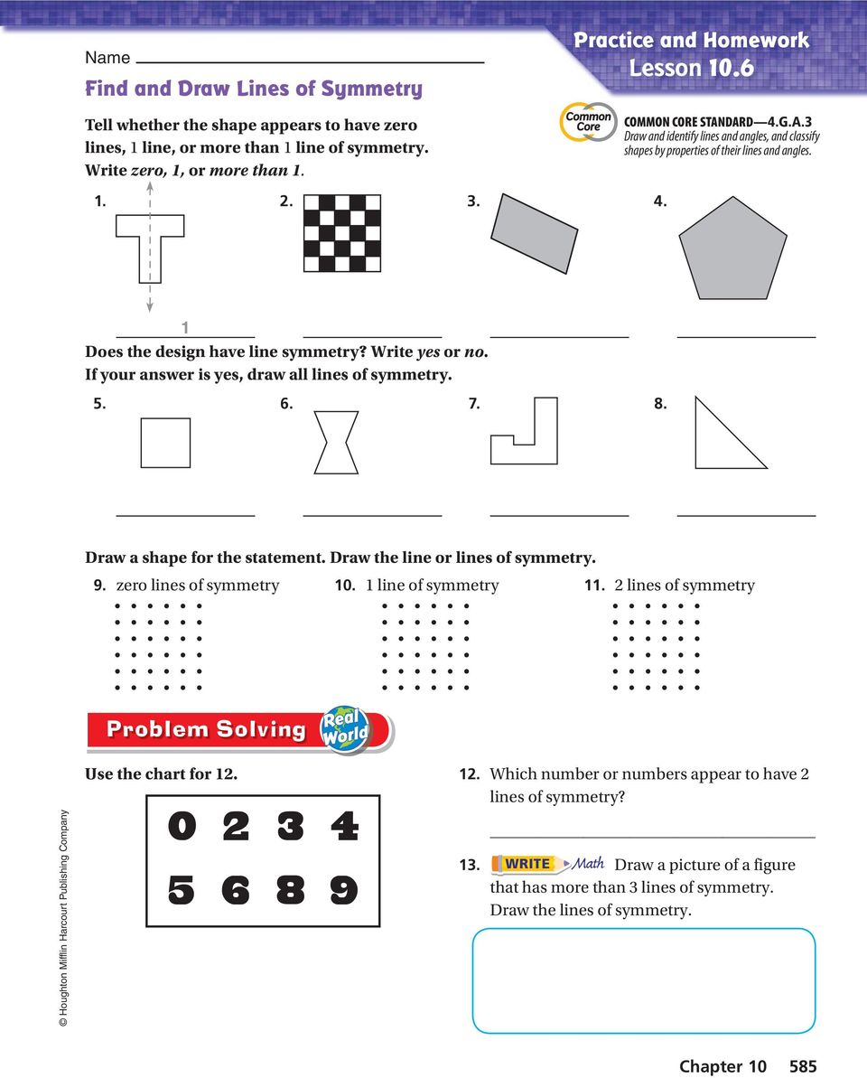 hight resolution of Activity 1 Find lines of symmetry. - PDF Free Download