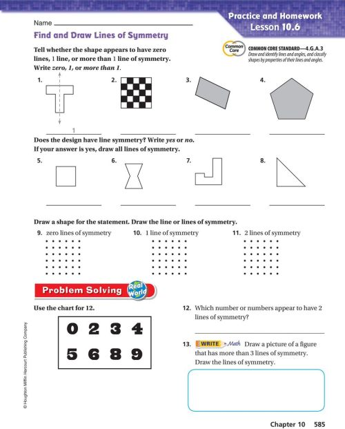 small resolution of Activity 1 Find lines of symmetry. - PDF Free Download