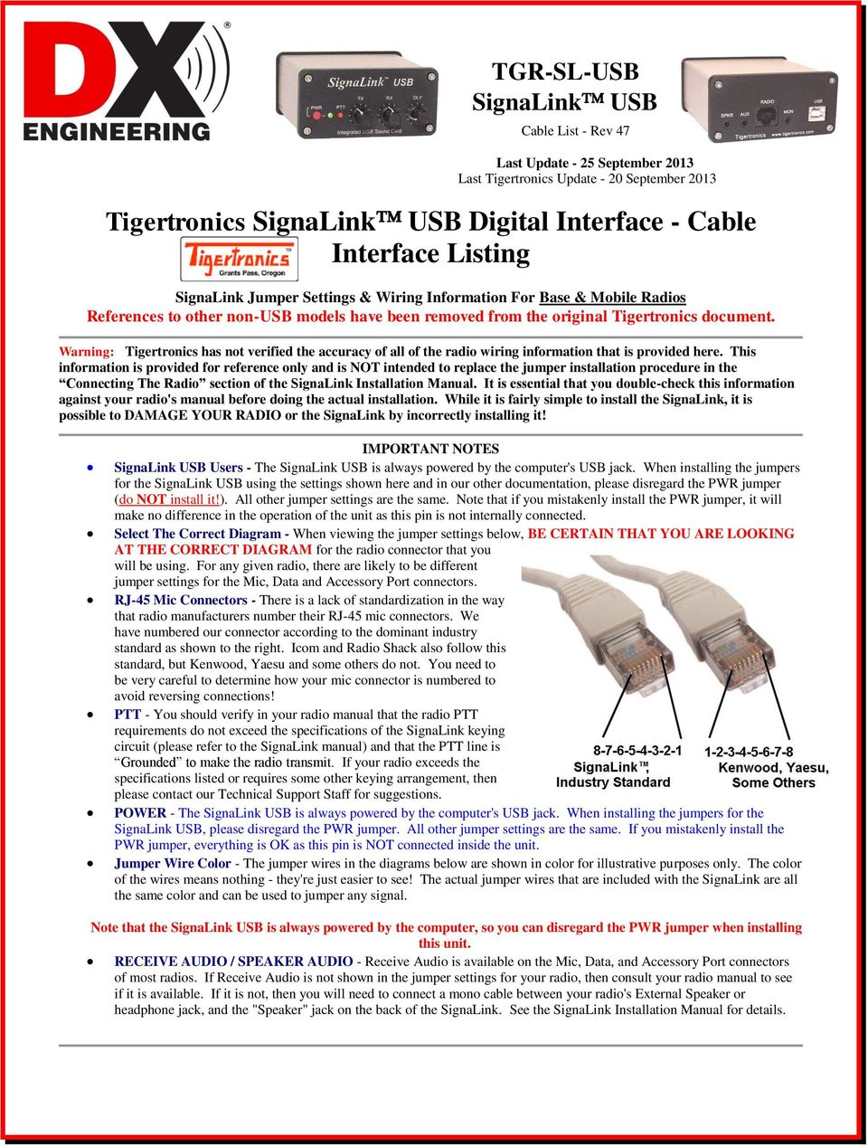 medium resolution of warning tigertronics has not verified the accuracy of all of the radio wiring information that