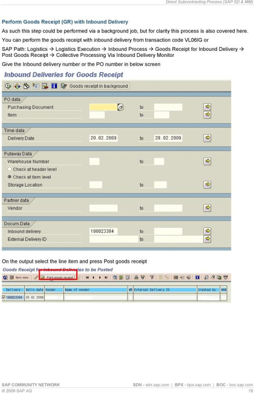 small resolution of you can perform the goods receipt with inbound delivery from transaction code vl06ig or sap path