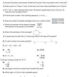 Middle Grades Math Placement Test For Students New to the Saxon Math  Program - PDF Free Download [ 1282 x 960 Pixel ]