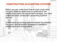 CONSTRUCTION ACCOUNTING SYSTEMS - PDF