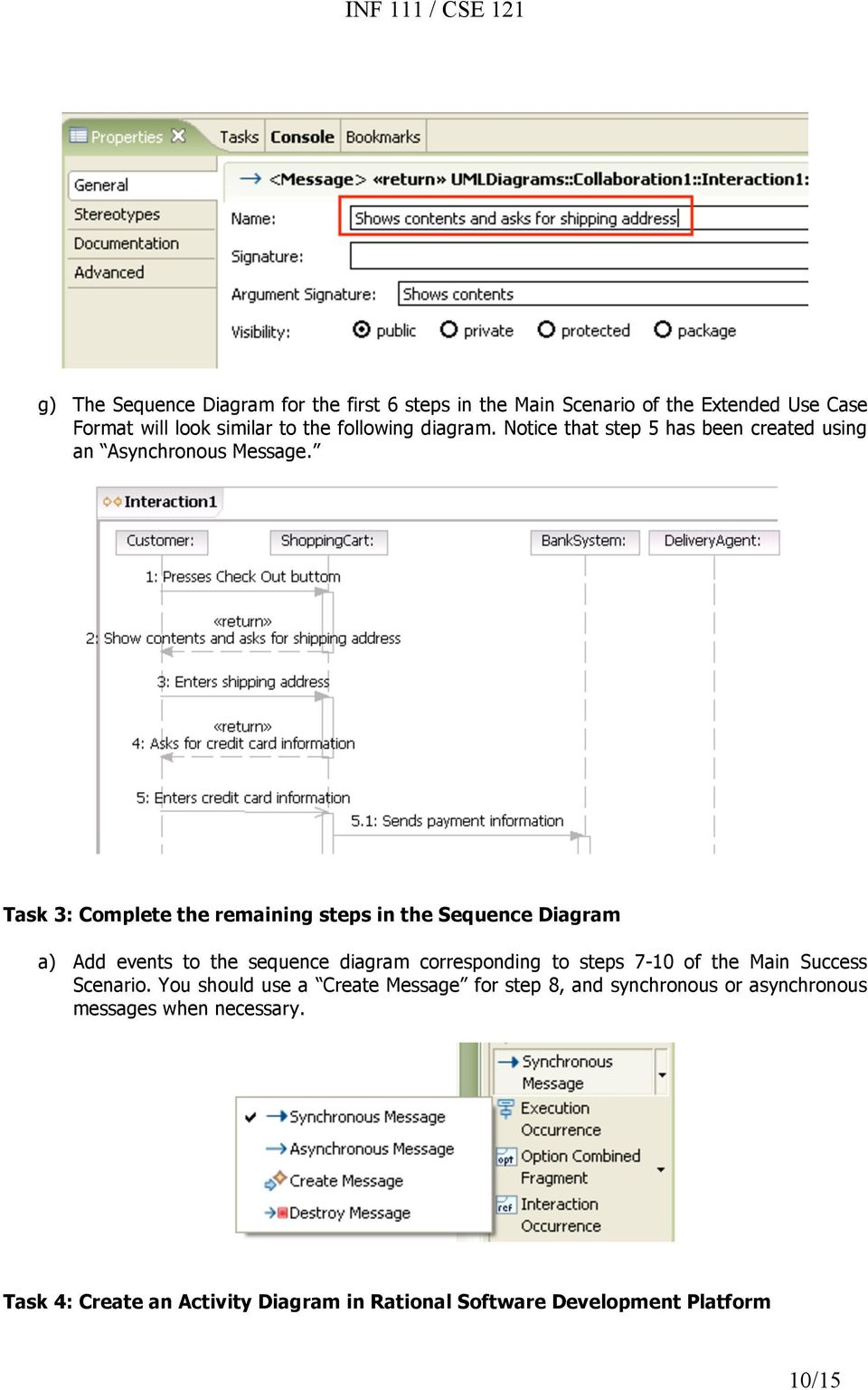hight resolution of task 3 complete the remaining steps in the sequence diagram a add events to