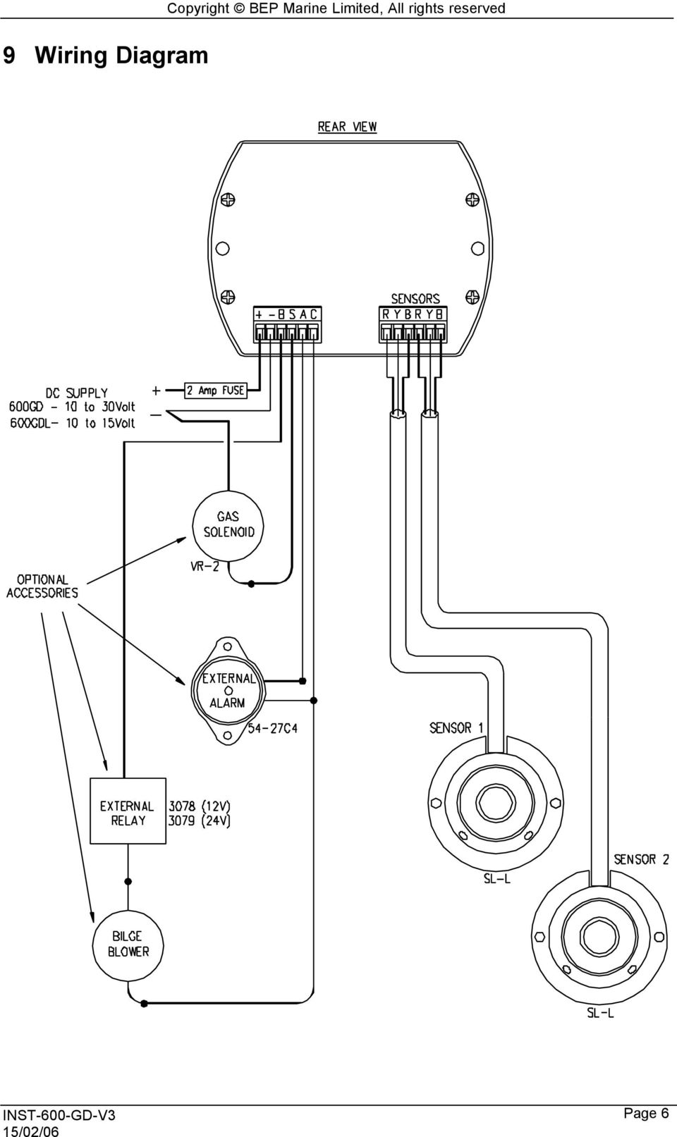 hight resolution of 8 10 control head installation copyright bep marine limited all rights reserved for ease of operation the control head should be mounted in a convenient