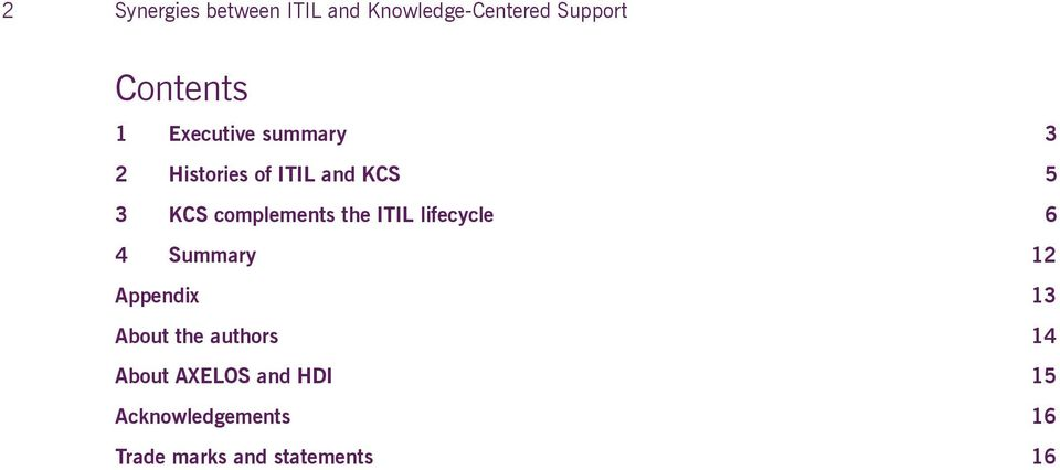 synergies between itil and