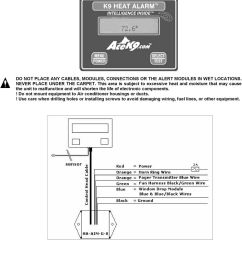 ace k9 wiring diagram wiring diagram articlek9 heat alarm owners manual ha pdf ace k9 wiring [ 960 x 1200 Pixel ]