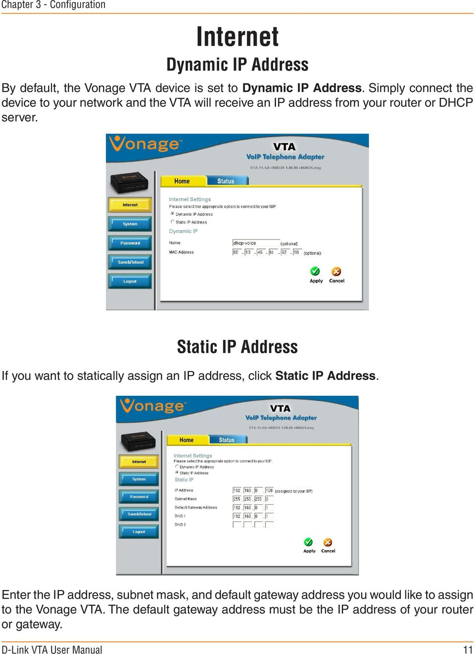 medium resolution of static ip address if you want to statically assign an ip address click static ip