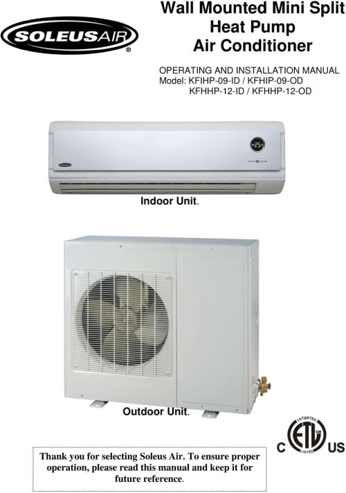 small resolution of kfhhp 12 od indoor unit outdoor unit