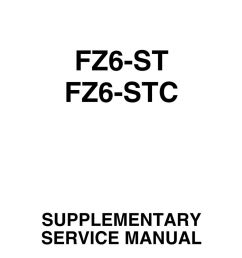 2 foreword this supplementary service manual has been prepared to introduce new service and data for the fz6 st fz6 stc for complete service information  [ 960 x 1361 Pixel ]