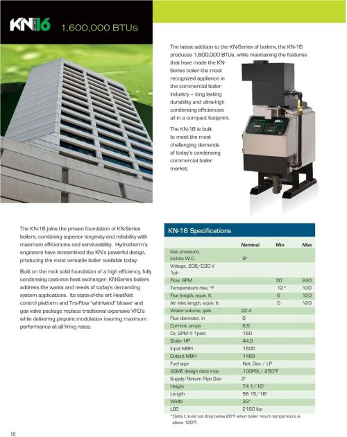 small resolution of the kn 16 is built to meet the most challenging demands of today s condensing