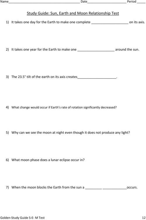 small resolution of Answers for the Study Guide: Sun