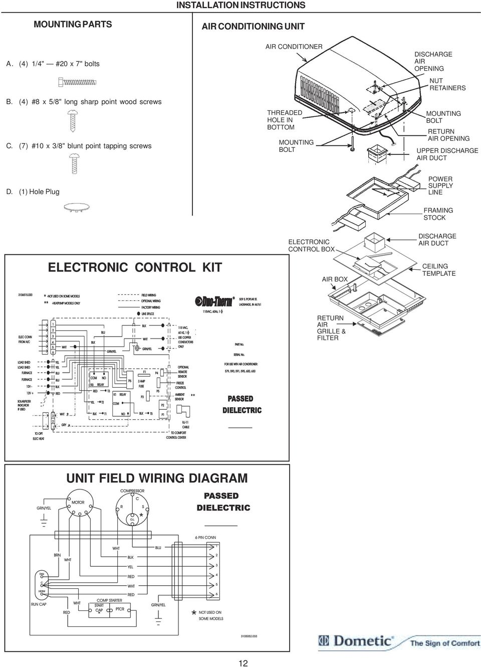 hight resolution of  1 hole plug power supply line framing stock electronic control box discharge air duct